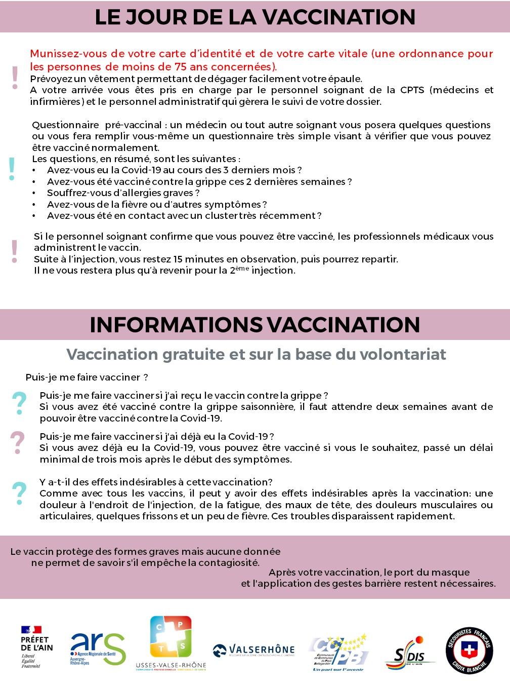 Vaccination Valserhône